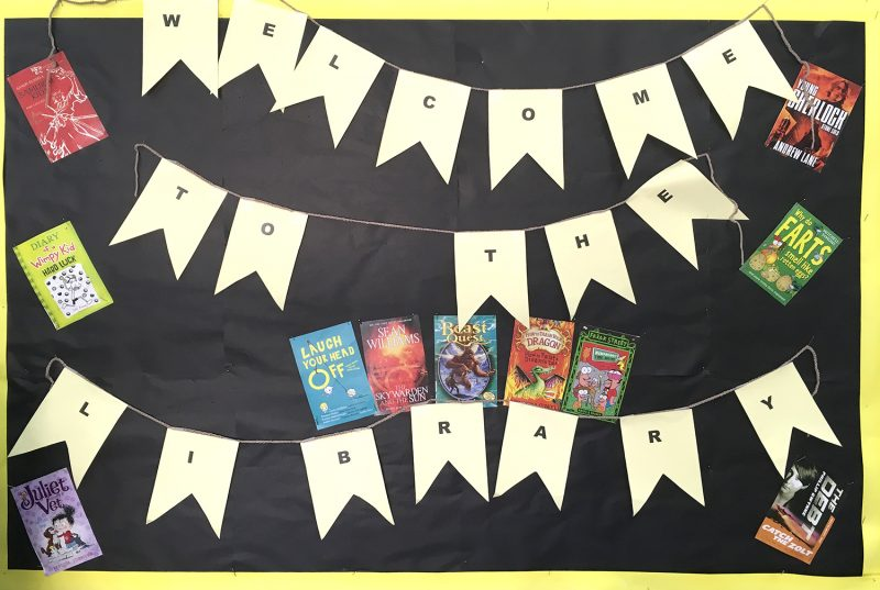 Welcome Display At The Library
